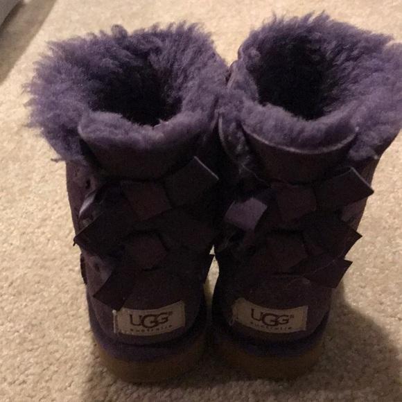 bc48de0fd84 Ugg boots purple bailey bow size 9